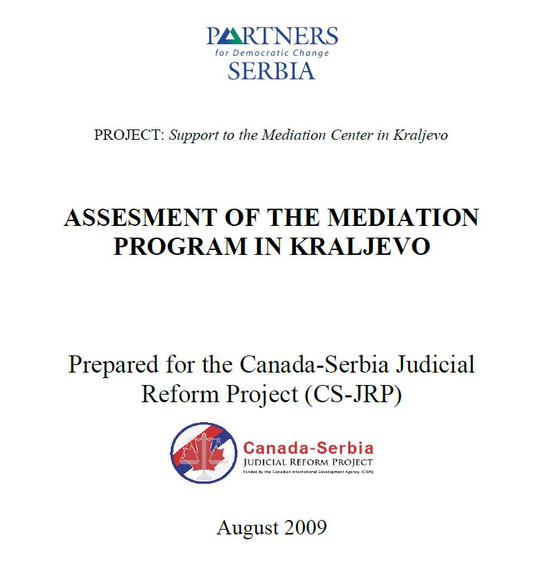 Assessment of the Mediation Program in Kraljevo