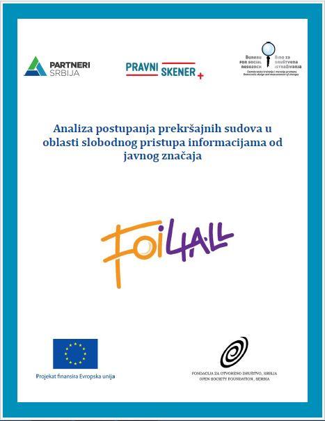 Analiza – Postupanje prekršajnih sudova u oblasti slobodnog pristupa informacijama od javnog značaja