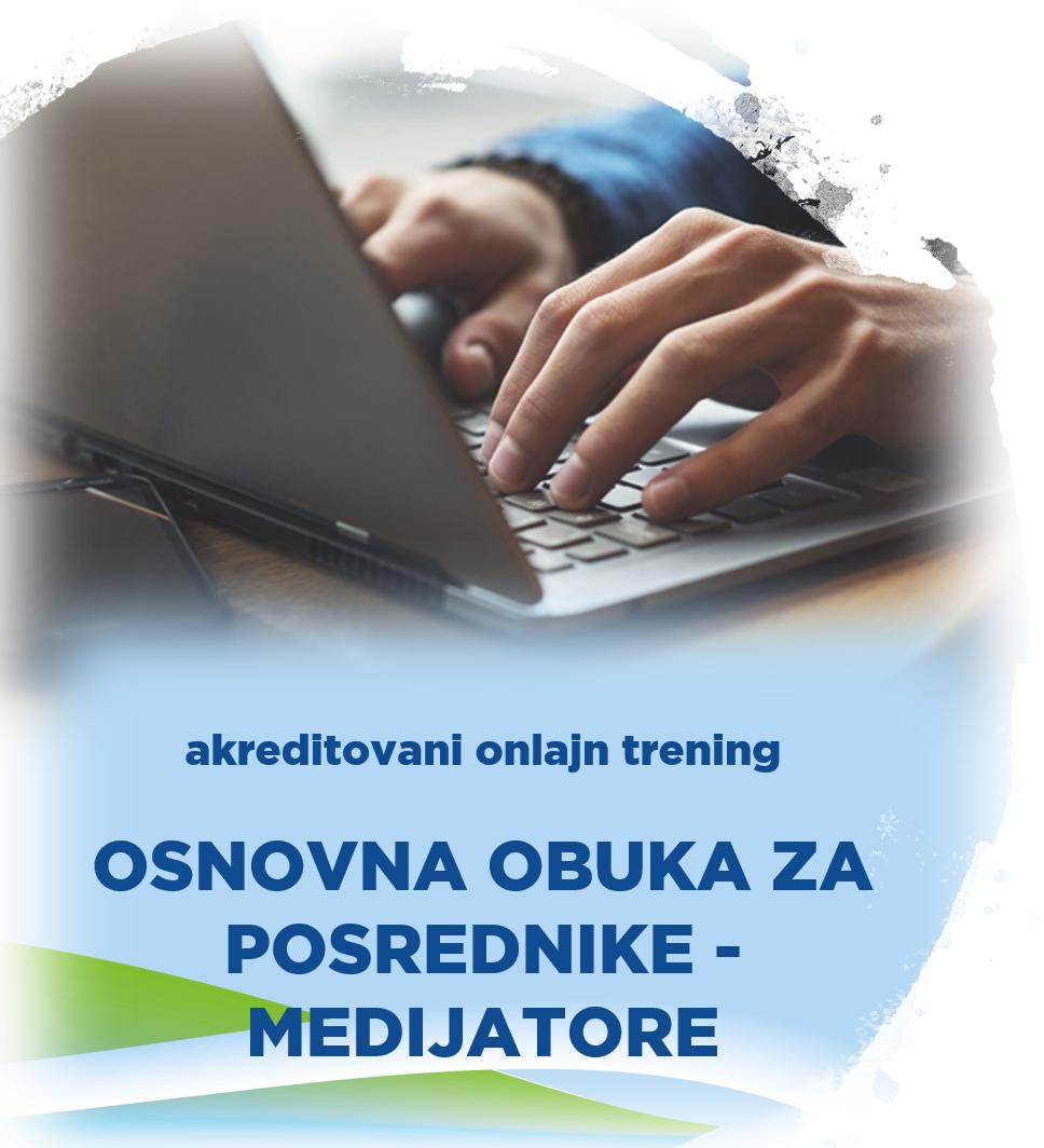 Akreditovani onlajn trening Osnovna obuka za posrednike - medijatore