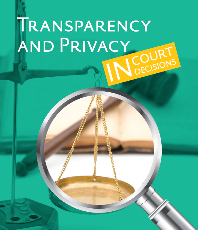 Transparency and Privacy in Court Decisions